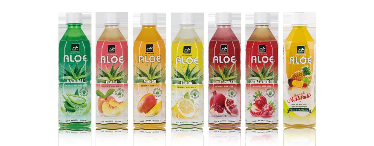 Aloe bottles